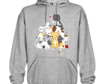 Meowntain of cats hoodie sweater
