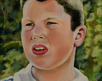 """Stand By Me - Vern - Jerry O'Connell - Art Print Reproduction 10"""" x 12"""" - signed by Artist"""