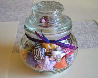 Wandering Stars - Small Lidded Glass Jar of Affirmation Stars