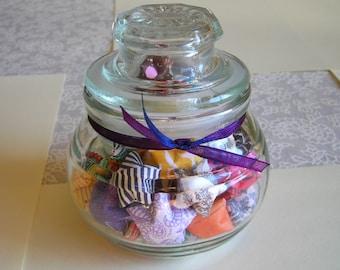 Transition & Change Stars - Small Lidded Glass Jar of Affirmation Stars