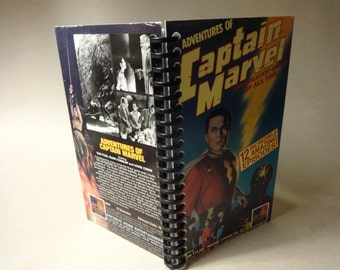 Adventures of Captain Marvel VHS Tape Box Notebook