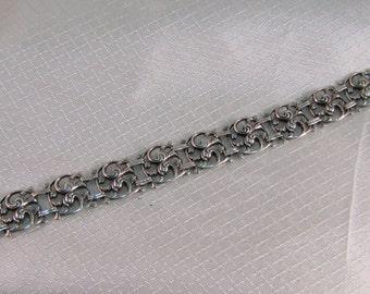 Vintage Art Nouveau 800 Silver Bracelt