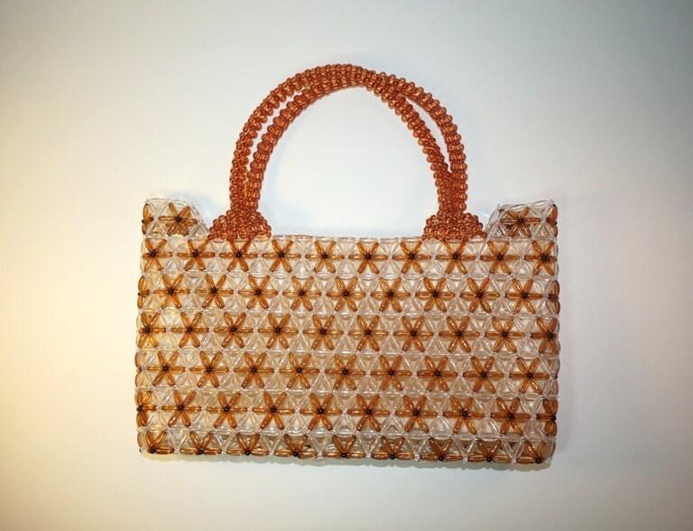 Beaded Purse Floral Beaded Handbag Beadwork Shoulder Bag
