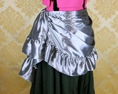 "Estelle Skirt in Pewter Taffeta -- Ready to Ship -- Fits 34""-42"" Waist"