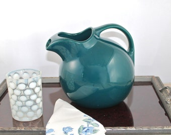 Vintage Hall China Spruce Ball #3 Pitcher with ice lip