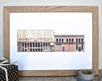 Liverpool Print - Everyman Theatre Print - Liverpool Buildings - Liverpool Theatre Art - Liverpool Gift - The Everyman Hope Street