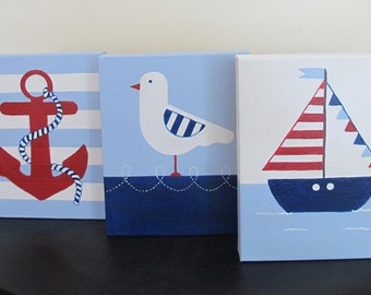 Take me to the Sea - original nautical paintings