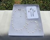 Flower Girl Jewelry White Swarovski Pearls Clear Crystals Bridal Jewelry Set