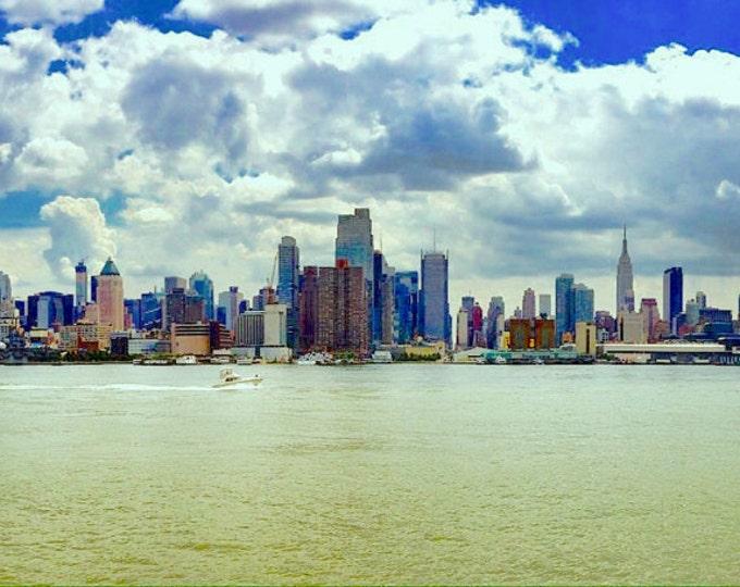 Manhattan Skyline on GLASS