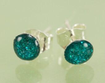 READY TO SHIP Tiny Glitter Post Earrings