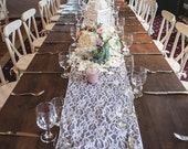 Lace table runner - White - SALE - Discontinued lace