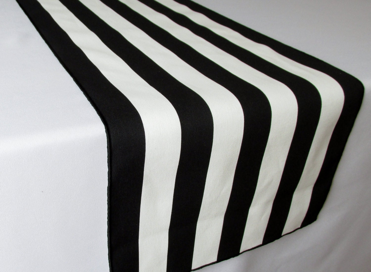 Black and white striped table runner wedding table runner for Black and white only