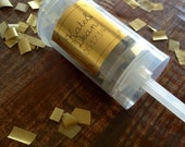 10 Gold Wedding/Party Confetti Popper for a wedding, party or New Years - with Gold monogram sticker