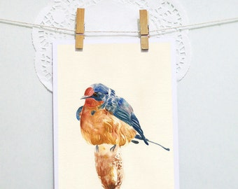 POSTCARD: Swallow Design (A6 size)
