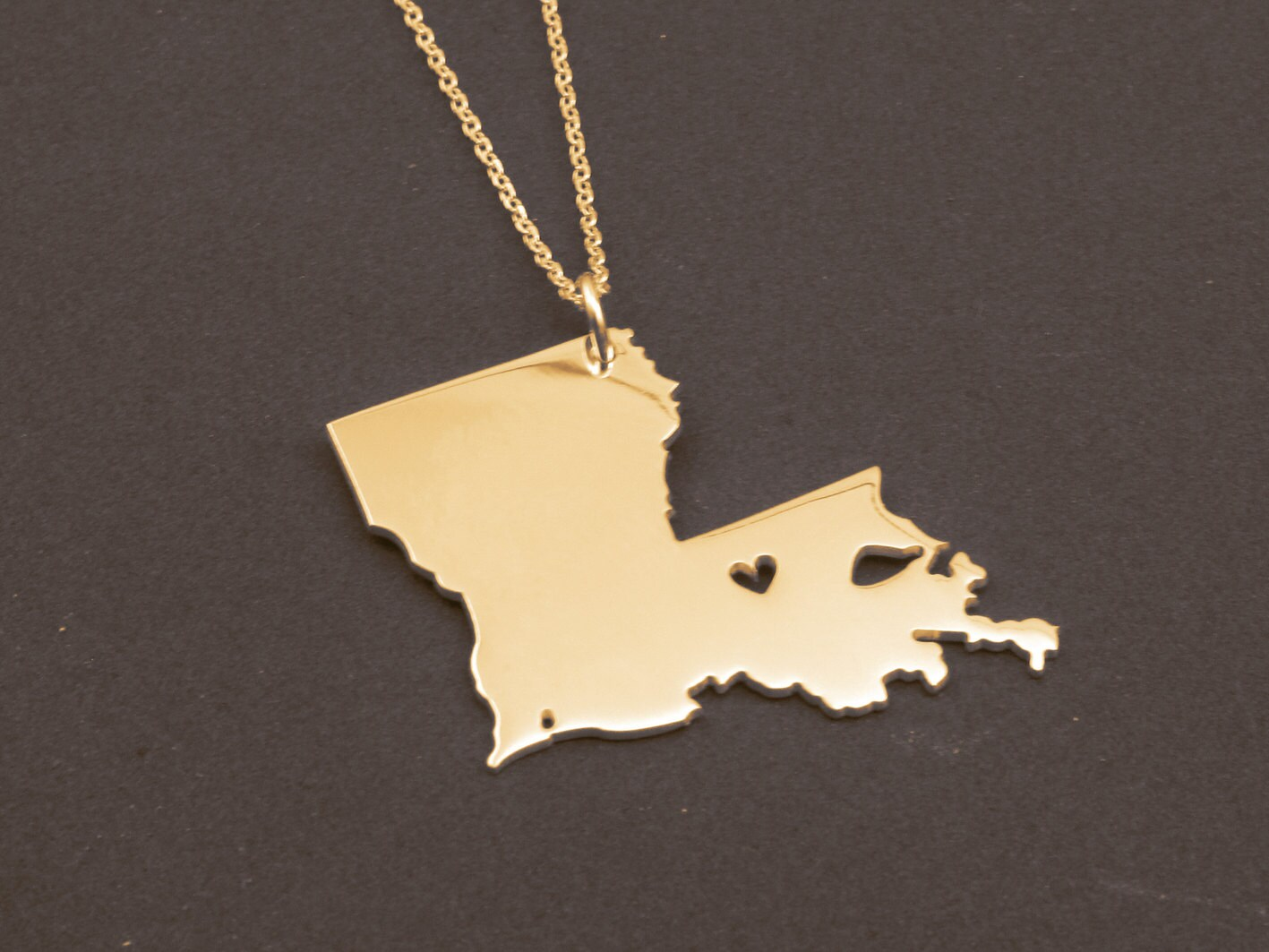 state necklace louisiana state charm necklace by
