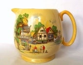 Antique L & Sons, pitcher, jug with Somerset village decoration