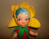 Vintage 1960's Remco FINGER DING Puppet Doll - Flower Kids Lil Buttercup 1969 (3of3)