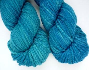 Bulky Yarn - Hand Dyed Superwash Merino Wool in Neptune Colorway