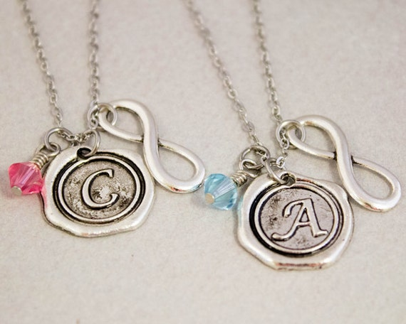 items similar to best friends necklace wax seal charm