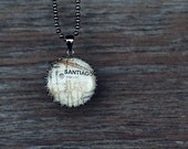 Santiago - Map Pendant Necklace and Keychain