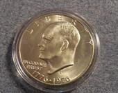 BU 1976-S Ike SILVER Dollar bicentennial from original Mint set.- 40% Silver