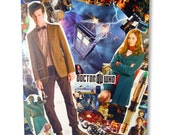 Doctor Who Comic Collage Wall Art