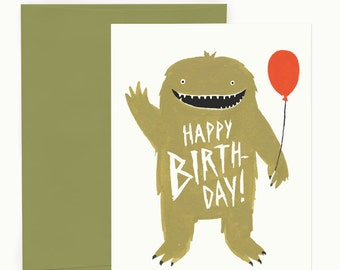 Party Monster Birthday Greeting Card