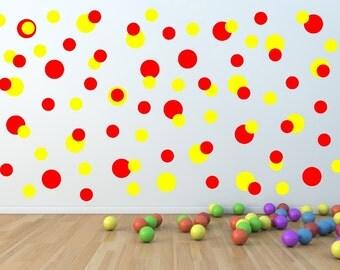 Polka Dots Decals - Polka Dots Multi Size Set of 104 Childrens Room Nursery Decor 22403