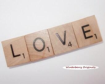 LOVE Fridge Magnet  --  Scrabble Refrigerator Magnet