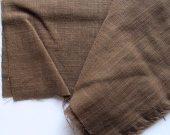 cotton double gauze fabric. japanese pure cotton fabric. soft like a cloud. 102cm wide. sold by 25cm (about 9.8in). chocolate brown