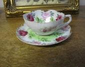 Beautiful fine Bone China Tea Cup and Saucer Made in Japan. ENGLISH GARDEN