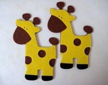 SALE Giraffe FELT Animal Ornaments for Safari / Jungle Themed, Baby Shower Centerpieces, Birthday Party Favors, Baby Room Decor