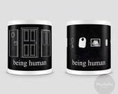 Being Human mug - Choose from 2 designs (Made to order)