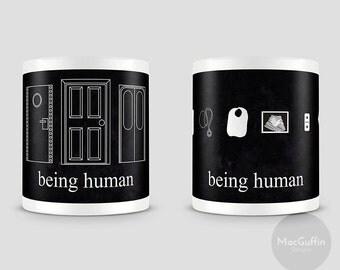 Being Human mug - Choose from 2 designs (Made to order)