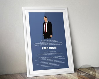 Peep Show poster - Choose from 3 characters (Made to order)