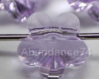 12 pcs 5744 Swarovski Elements FLOWER Crystal Beads VIOLET - Available in 6mm and 8mm