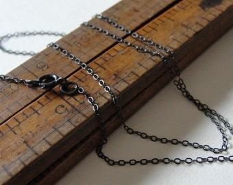 Sterling Silver necklace - oxidized delicate chain 18 inch long - antique style for RQP Studio wax seal jewelry