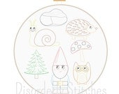 Garden Gnome Collection Hand Embroidery PDF Pattern Instant Download