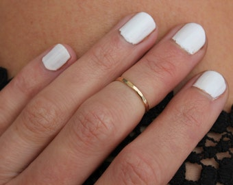 Gold midi ring, knuckle ring, stacking rings - midi ring, gold ring