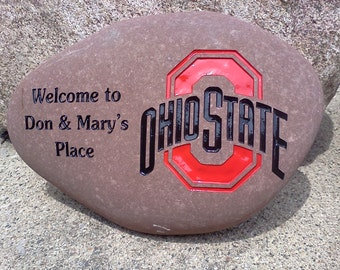 Engraved College Logo Stone
