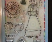 Hanna Stamps clear stamp set of: Thanksgiving stamps 13 piece set