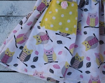 """It is owl good"""" girls ,toddlers cotton skirt choose your fabric"""