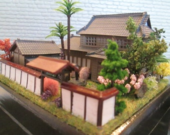 Made-to-Order Japanese Zen Garden House 144 or N scale