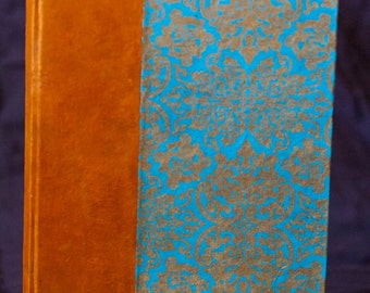 Hand-Bound Sketchbook with Victorian Pattern