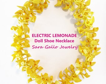Electric Lemonade Doll Shoe Necklace(c) by Sara Gallo