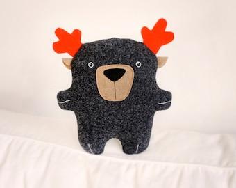 Bambak dear Deer, woodland animal, antlers, moose, reindeer, geek toy, boyfriend gift, cute creature, kawaii plushie, personalized kids