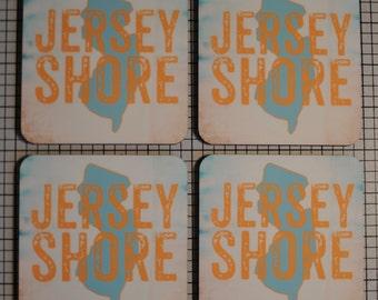 Coaster Set | Coaster Set. Jersey Shore Set of 4 Cork Back | Options at Checkout Man Cave | Set of 4 Cork Back | Options at Checkout