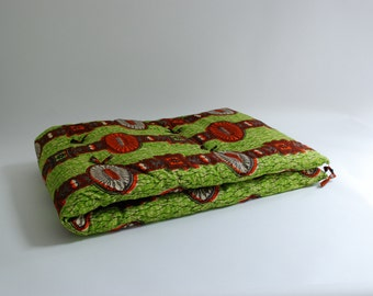 African Dutch Wax Cushion With Cotton Batting