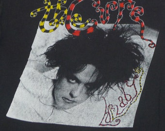 Vintage 80s 1989 Robert Smith The Cure Lullaby Emo Punk Goth Rock T-Shirt