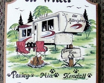 Camping signs-fifth wheel signs-personalized-weatherproof